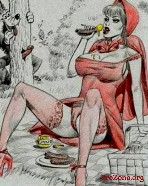 Смотреть Рисунки Красная Шапочка Эро