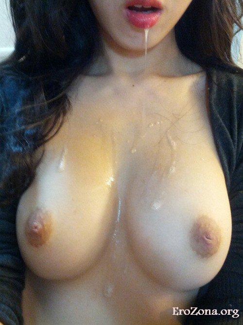 Грудь В Сперме — Порно Фото
