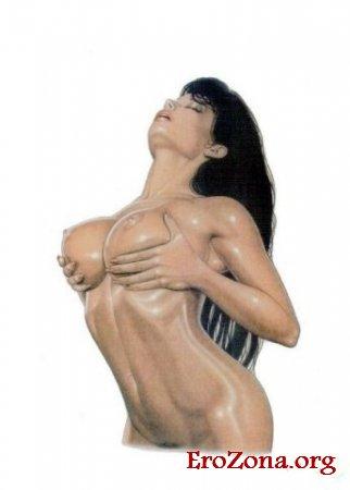 Эротические рисунки голой женщины