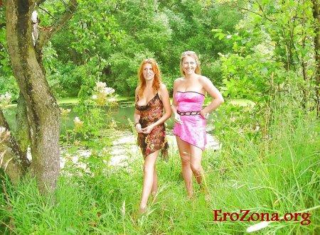 русские зрелые женщины отдыхают на природе частное фото