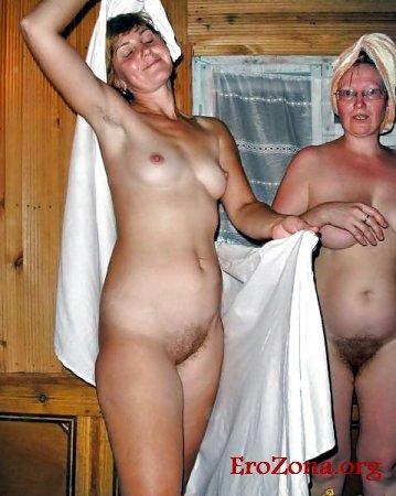 Русские зрелые Женщины в бане