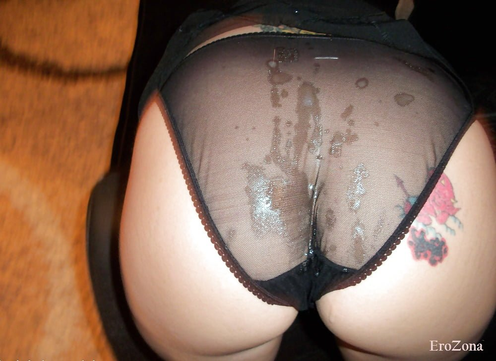 Cum stained panties getting my cumshot, HQ pics porn cf