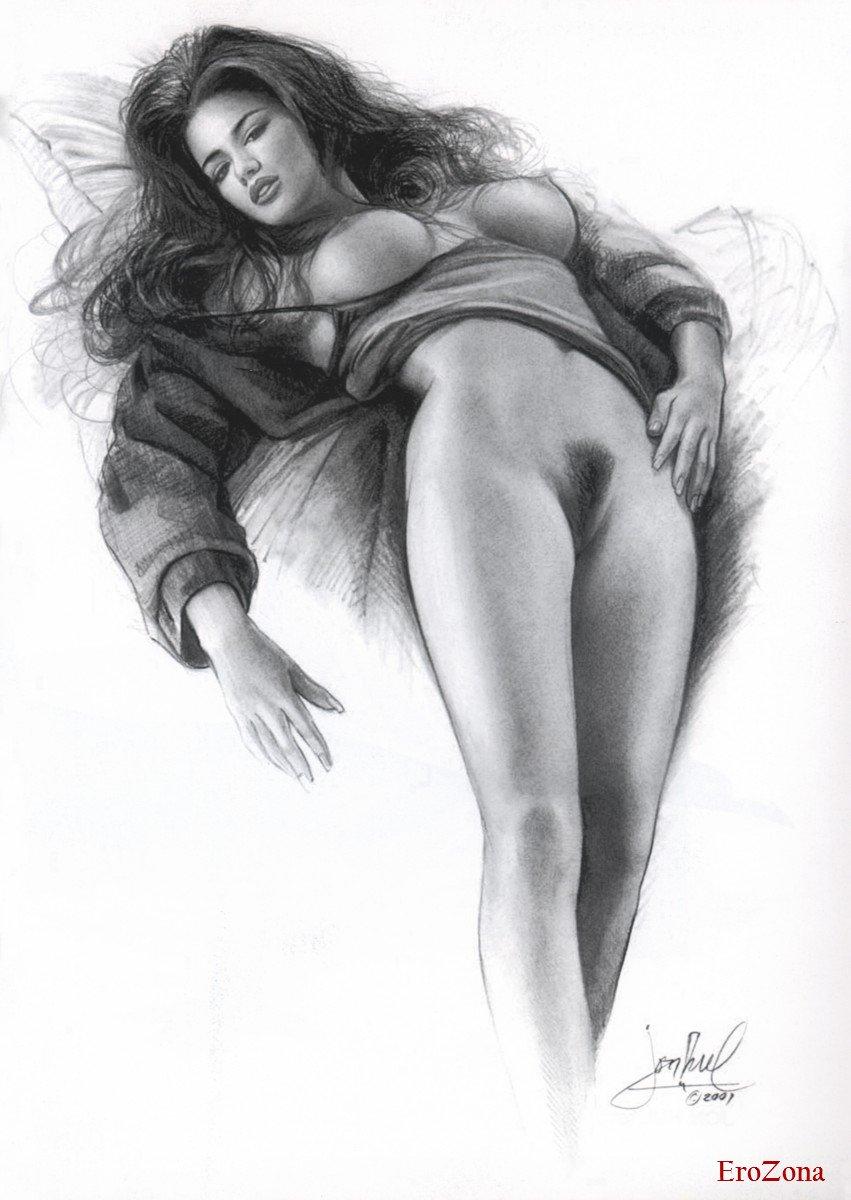 Красиво Нарисованные Голые Девушки