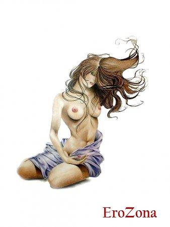 Эротические рисунки сисек красивых женщин
