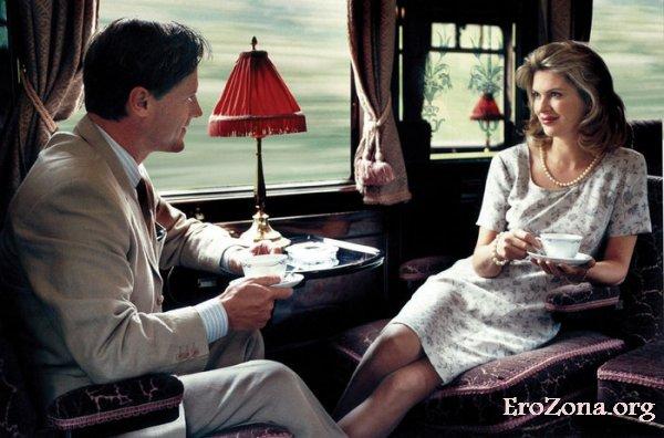 Случайный секс в поезде с попутчиком